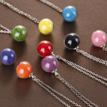 New Arrival Gift Shiny Jewelry Stylish Accessory Handcrafts Glass Chain Hot Sale Wool Necklace [8026328007]