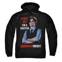 Criminal Minds Men's  Trust Me Hooded Sweatshirt Black Rockabilia