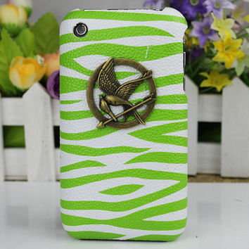 hunger games mockingjay Hard Case Cover for Apple iPhone 3 Case, iPhone 3gs Case, iPhone 3g Hard Case