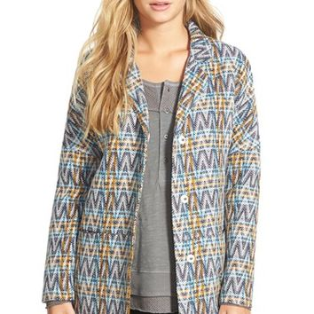 Junior Women's Volcom 'Simple Stone' Sweater Jacket,