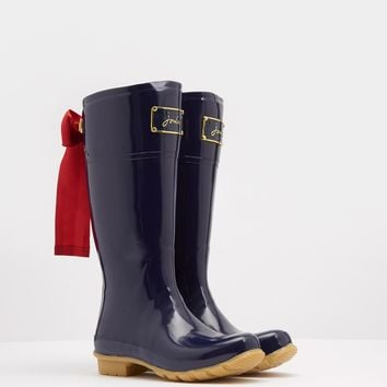 Evedon French Navy Premium Rain Boots | Joules US