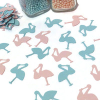 Stork confetti, baby shower decorations, gender reveal, Ready in 3 to 5 weekdays, pink, blue, 100CT