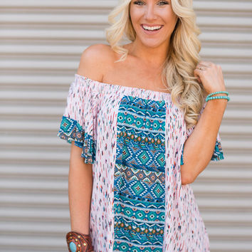 Off The Shoulder Top Boho Chic Top