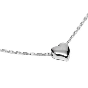 Amelina Heart Necklace, 925 Sterling Silver