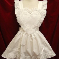 Custom Made Sweet Heart Apron Maid Strap Dress Free Ship SP141073