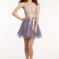 Strapless Beaded Corset Dress