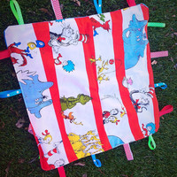 Sensory Taggie Security Blanket- Dr  Suess