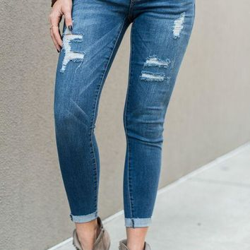 Perfectly Distressed Skinny Jeans