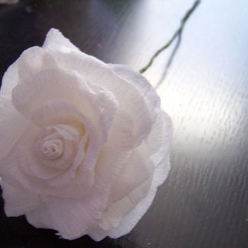 SALE - Crepe Paper Rose