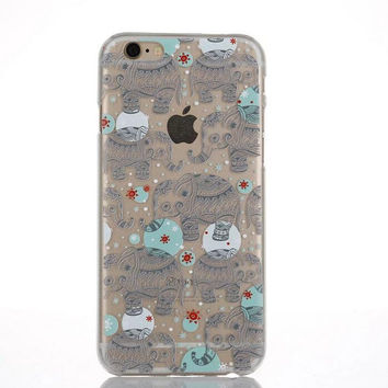 Originality Transparent Elephant Lace iPhone 6 6s Case Ultrathin Cover Gift