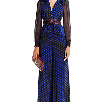 DVF Cathy Silk Jumpsuit