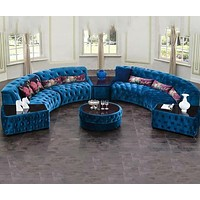 Luxury Sofa Sets With Tea Poy And Backrest