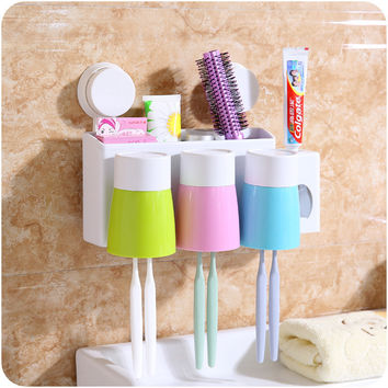 Rack Cup Tooth Brush Holder Set [6395714820]