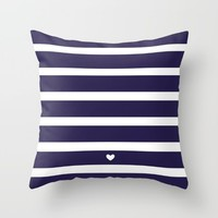 PREPPY STRIPES Throw Pillow by Yellow Door Project | Society6