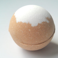 Caramel Latte Bath Bomb, Bath Fizzy, Made with Organic Cocoa, Holiday Gift Ideas, Gifts For Her, Bath Bombs, 5.5 oz