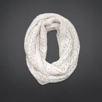 Open Stitch Shine Infinity Scarf