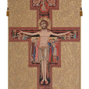 Crucifix of St. Damian Tapestry Wall Art Hanging
