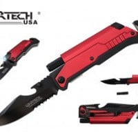 """8.5"""" Spring Assisted Pocket Knife w/ Multi-Tools"""