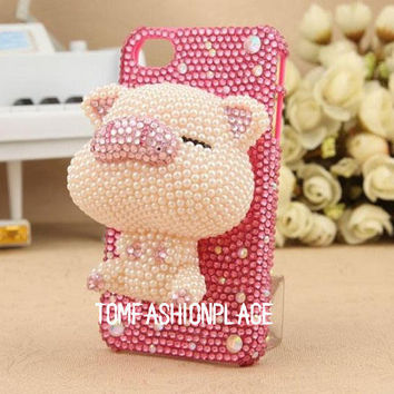 My lovely small pig iphone 5 case iphone 4 case iphone 4s case 3D iphone cover