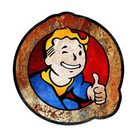 Fallout Inspired Wasteland Vault Boy Vinyl Sticker