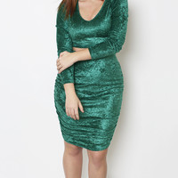 Grisel. Emerald Velvet Set - Shop Women's Missy & Plus Size Clothing