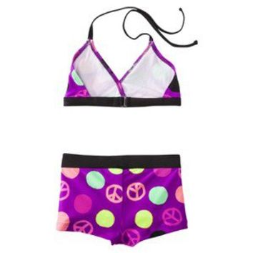 Xhilaration® Girls'  Rashguard Swimsuit Set