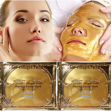 Luxury Gold Bio-Collagen Facial Face Mask Anti-Aging Hydrating Repair Skin Cosmetics NW