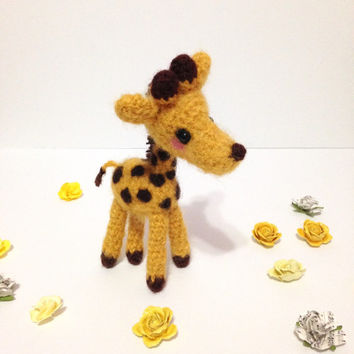 Amigurumi Giraffe Crochet Giraffe Stuffed Animal Fuzzy Animal Stuffed Toy Giraffe Kids Toy Gift Ideas Kawaii Giraffe Plush Holiday Gift Idea