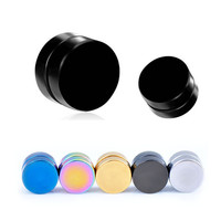 1pc Stainless Steel Magnetic Ear Stud Men/Women's Clip Earring brinco On Non-Pierced Earrings 5 Colors Option EAR-0021