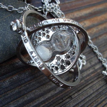 Harry Potter TIME TURNER necklace Pendant Hermione Granger Necklace antique silver plated
