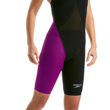 LZR Elite 2013 Openback Kneeskin - black/purple - 09 143 8860 (28) - - Speedo Kneesuits