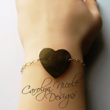 Mother's Heart Charm Bracelet by Carolyn Nicole Designs