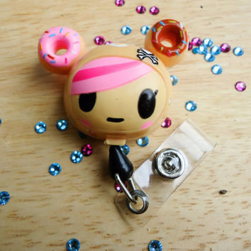Sale Retractable bling reel clip tag ID badge holder Nurse Xray tech CNA Not hello kitty Tokidoki