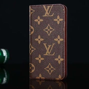 Louis Vuitton LV Leather Fashion iPhone X XR XS XS MAX Phone Cov 202f2df7f2