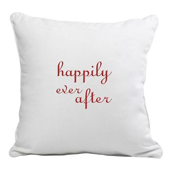 Cathy's Concepts ''Happily Ever After'' Throw Pillow (White)