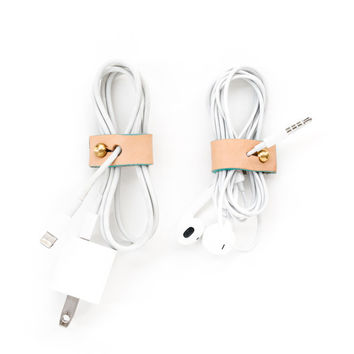 Leather Cord Keepers S/2