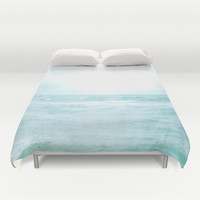 Me and the Sea Duvet Cover by Bella Blue Photography