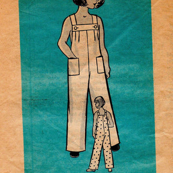 Retro 60s Sewing Pattern Mail Order Boys Girls Coveralls Jumper Romper Pants Sleeveless Toddler Size 2