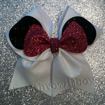 "3inch BIG Cheerbow ""The Mouse!"" Cheerleader Hair bow"