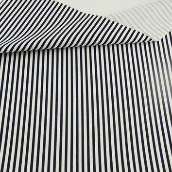 White and Black Stripes Style Fat Quarter 100% Cotton Fabric Home Textile Tissu Art Work Children Cloth Quilting Bedding Sewing