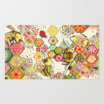 Bees Of Confusion Rug by Christina Siravo