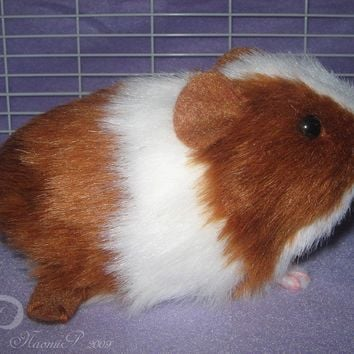 Little Guinea Pig Plush Red and White by Morumoto on Etsy