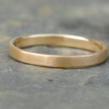 18k Gold Wedding Ring Wedding Band Stackable by DalkullanJewelry