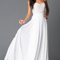 Dresses, Formal, Prom Dresses, Evening Wear: Strapless Sweetheart Off White Prom Dress G581
