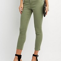 "REFUGE ""HI-WAISTED CROP"" COLORED JEANS"