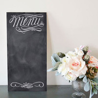 Elegant Menu - Chalkboard Sign