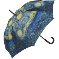 Galleria Starry Night Stick Umbrella