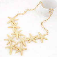 Golden Starfish Pendant Necklace
