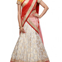 White color Party wear lehenga choli available online