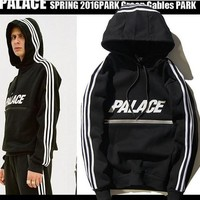Winter warm PALACE hoodies Letter Print Pullover Men hoodie Sweatshirt